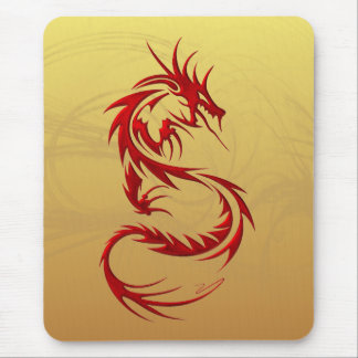 Dragon tribal tapis de souris
