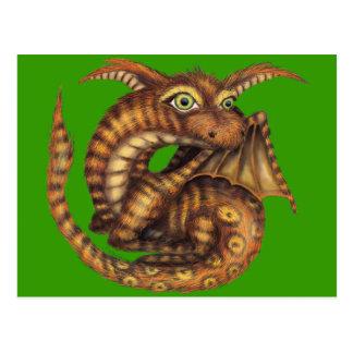 Dragon velu mignon carte postale