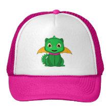 Dragon vert et orange de Chibi Casquette