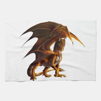 Dragon vert serviette pour les mains