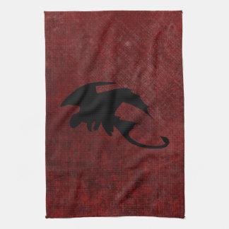 Dragon vintage médiéval d'imaginaire serviette pour les mains