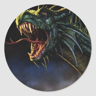 dragons adhésifs ronds
