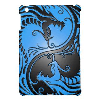 Dragons, bleu et noir de Yin Yang Étuis iPad Mini