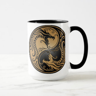 Dragons, brun et noir de Yin Yang Mug