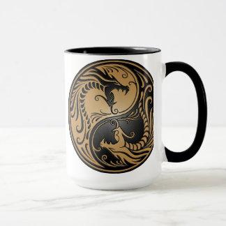 Dragons, brun et noir de Yin Yang Tasses