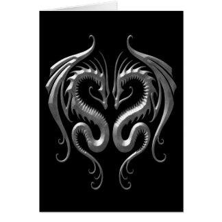 Dragons de fer carte de vœux
