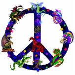 Dragons de paix découpage en acrylique