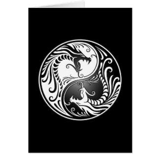Dragons de Yin Yang Carte De Vœux