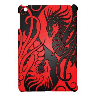 Dragons de Yin Yang de vol - rouge et noir Coques Pour iPad Mini
