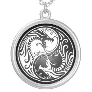Dragons de Yin Yang Pendentif Rond