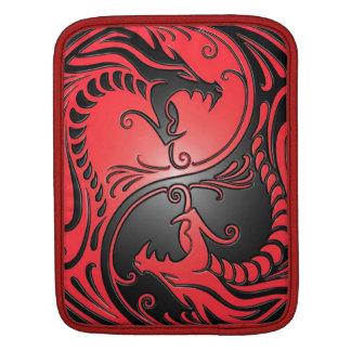 Dragons, rouge et noir de Yin Yang Poches Pour iPad