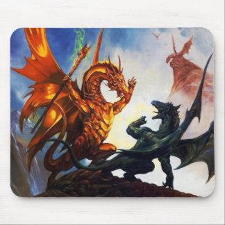 Dragons sur un tapis de souris