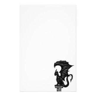 Dragonstatue Motifs Pour Papier À Lettre