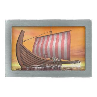 Drakkar ou bateau de Viking - 3D rendent Boucles De Ceinture Rectangulaires
