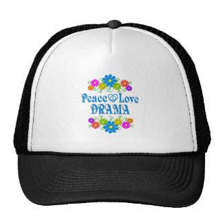 Drame d'amour de paix casquettes