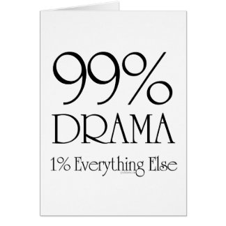 Drame de 99% carte de vœux