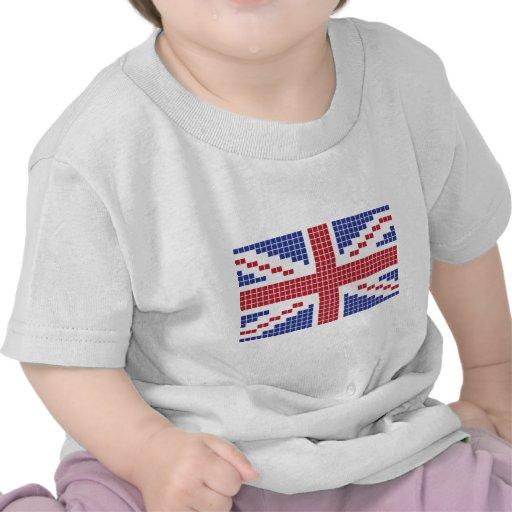drapeau à 8 bits d'Union Jack les Anglais (R-U) de T-shirt