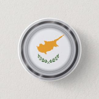 Drapeau abstrait de la Chypre, bouton chypriote de Badges