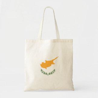 Drapeau abstrait de la Chypre, couleurs chypriotes Tote Bag