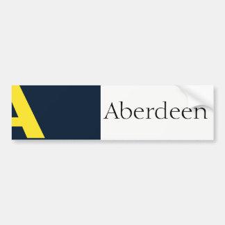 Drapeau adhésif pour pare-chocs d'Aberdeen, Autocollant De Voiture