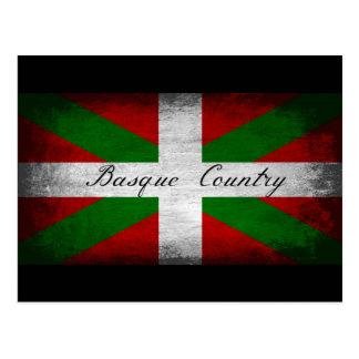 Drapeau affligé par pays Basque Cartes Postales