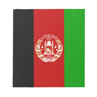 Drapeau afghan patriotique bloc-note