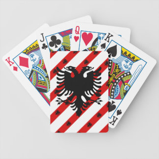 Drapeau albanais de rayures jeu de cartes