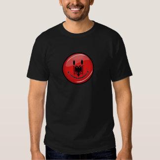 Drapeau albanais de sourire t-shirt