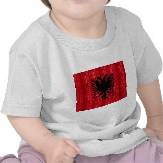 Drapeau albanais en bois t-shirt