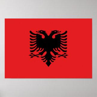 Drapeau albanais posters