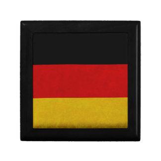 Drapeau Allemagne Petite Boîte À Bijoux Carrée