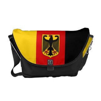 Drapeau allemand avec le sac messenger à crête besace