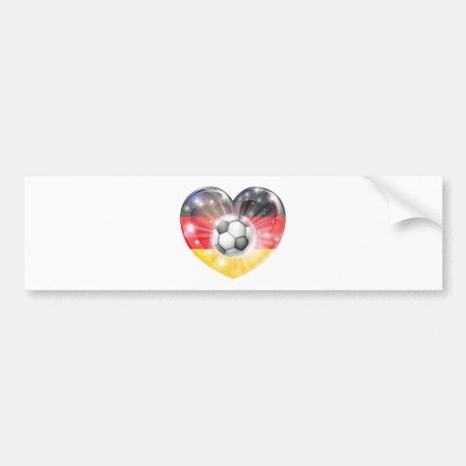 drapeau allemand de coeur du football adhésifs pour voiture