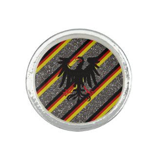 Drapeau allemand de rayures bagues