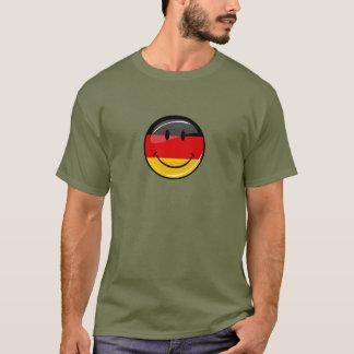 Drapeau allemand de sourire t-shirt