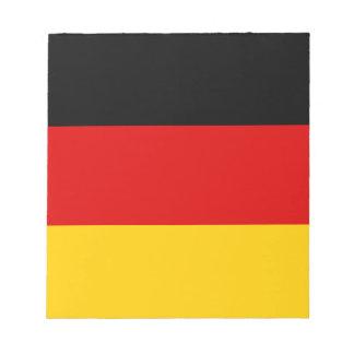 Drapeau allemand patriotique bloc-note