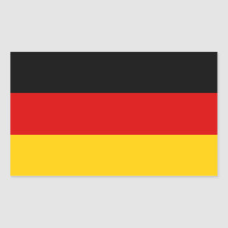 Drapeau allemand sticker rectangulaire