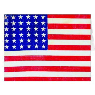 Drapeau américain 1865 de guerre civile carte de vœux grand format
