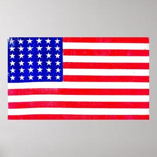 Drapeau américain 1865 de guerre civile poster