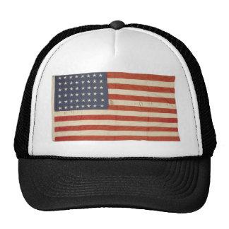 Drapeau américain avec 48 étoiles casquette de camionneur