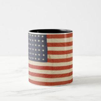 Drapeau américain avec 48 étoiles tasse