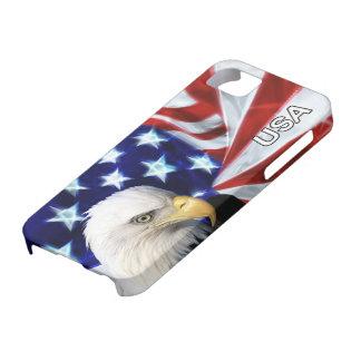 Drapeau américain avec Eagle chauve patriotique Étuis iPhone 5
