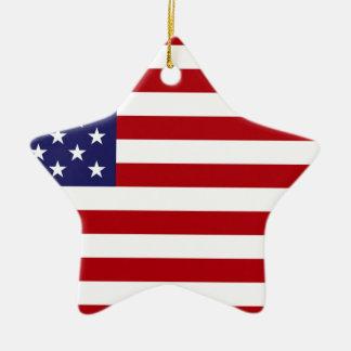 Drapeau américain - bannière étoilée - vieille ornement étoile en céramique