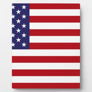 Drapeau américain - bannière étoilée - vieille photo sur plaque