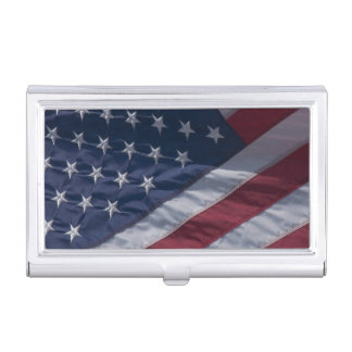 Drapeau américain boîtiers pour cartes de visite