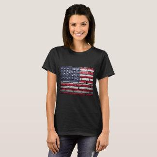 Drapeau américain, brique texturisée.  - t-shirt