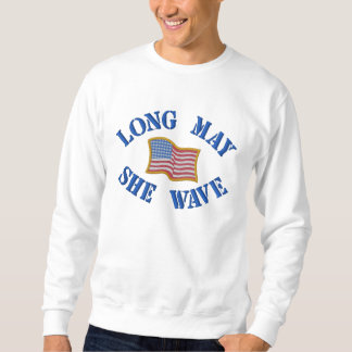 Drapeau américain brodé sur le sweatshirt
