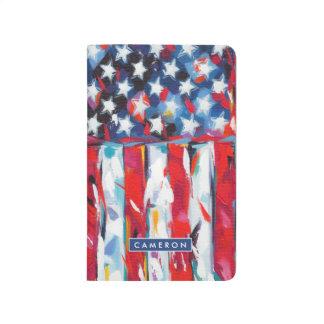 Drapeau américain carnet de poche