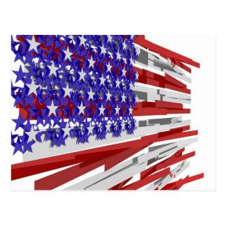 Drapeau américain carte postale