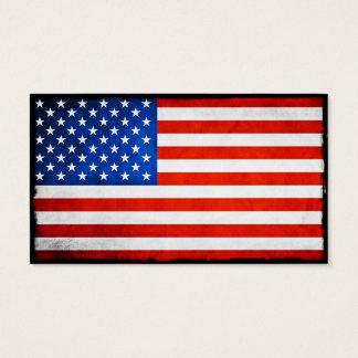 Drapeau américain cartes de visite